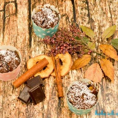 Backmischung im Glas für schokoladige Apfel Zimt Muffins