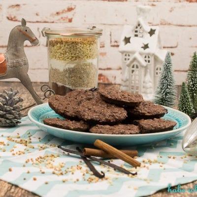Weihnachtliche Lebkuchen Cookies als Backmischung im Glas