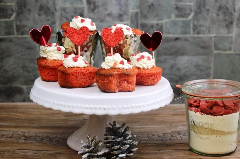 Verliebte Cupcakes- als Valentinstagsgeschenkidee