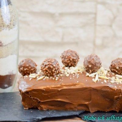 Rocher Kuchen- schokoladig, nussig und verdammt lecker- auch als Backmischung im Glas