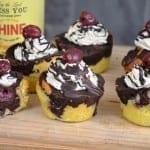 Donauwellen Cupcakes mit Kirschen