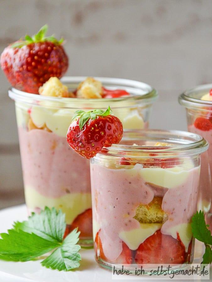 Erdbeer Tiramisu im Glas