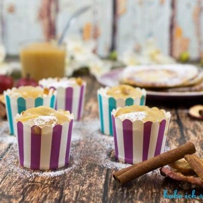 Pancake Muffins mit Apfelmus Füllung – ein perfektes Frühstück
