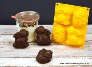 Schoko Hasenkuchen als Backmischung im Glas