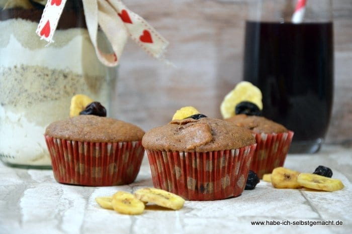 Kirsch Bananen Muffins