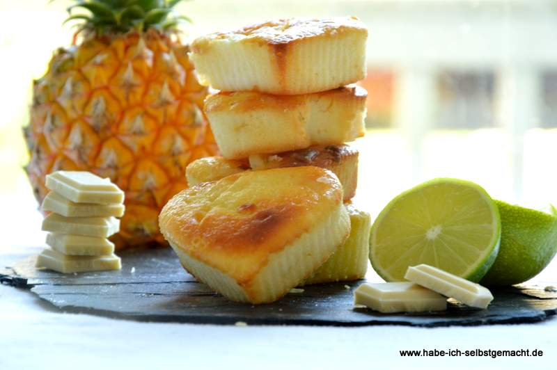 saftige ricotta limetten ananas muffins. Black Bedroom Furniture Sets. Home Design Ideas
