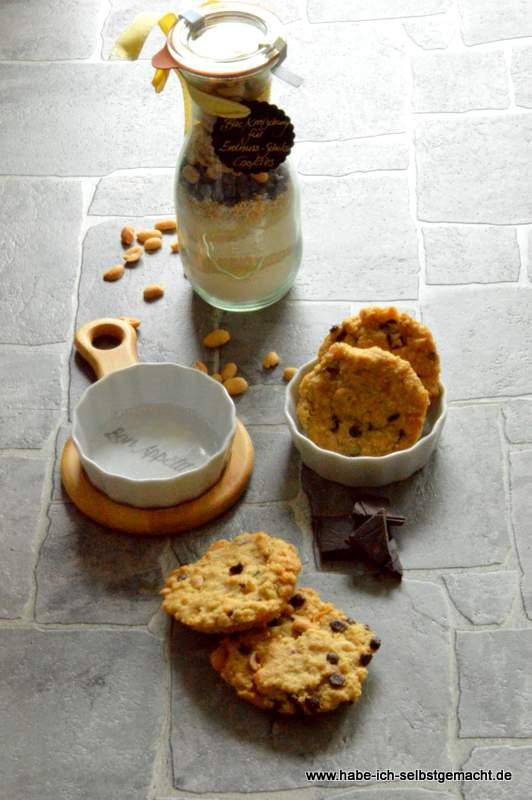 Backmischung für Schoko Erdnuss Cookies