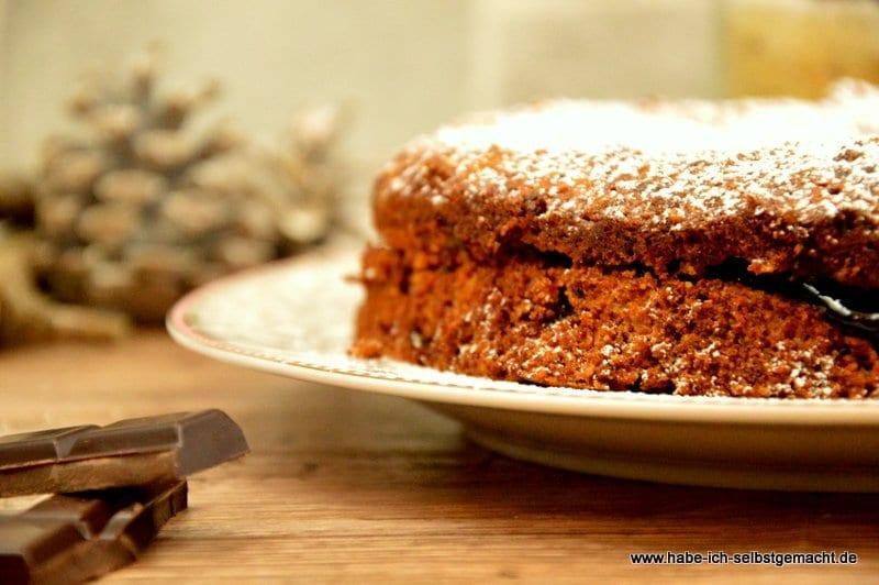Backmischung für Schokoladen-Haselnuss-Torte