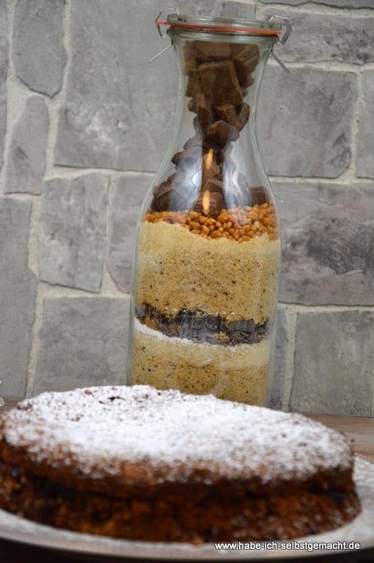 Backmischung für Schokoladen Haselnuss Torte