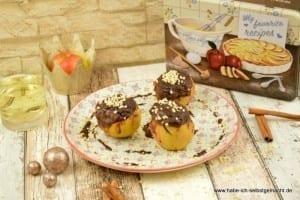 Äpfel mit Glühwein Schokoladen Füllung