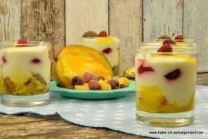 Himbeer Mango Vanille Dessert