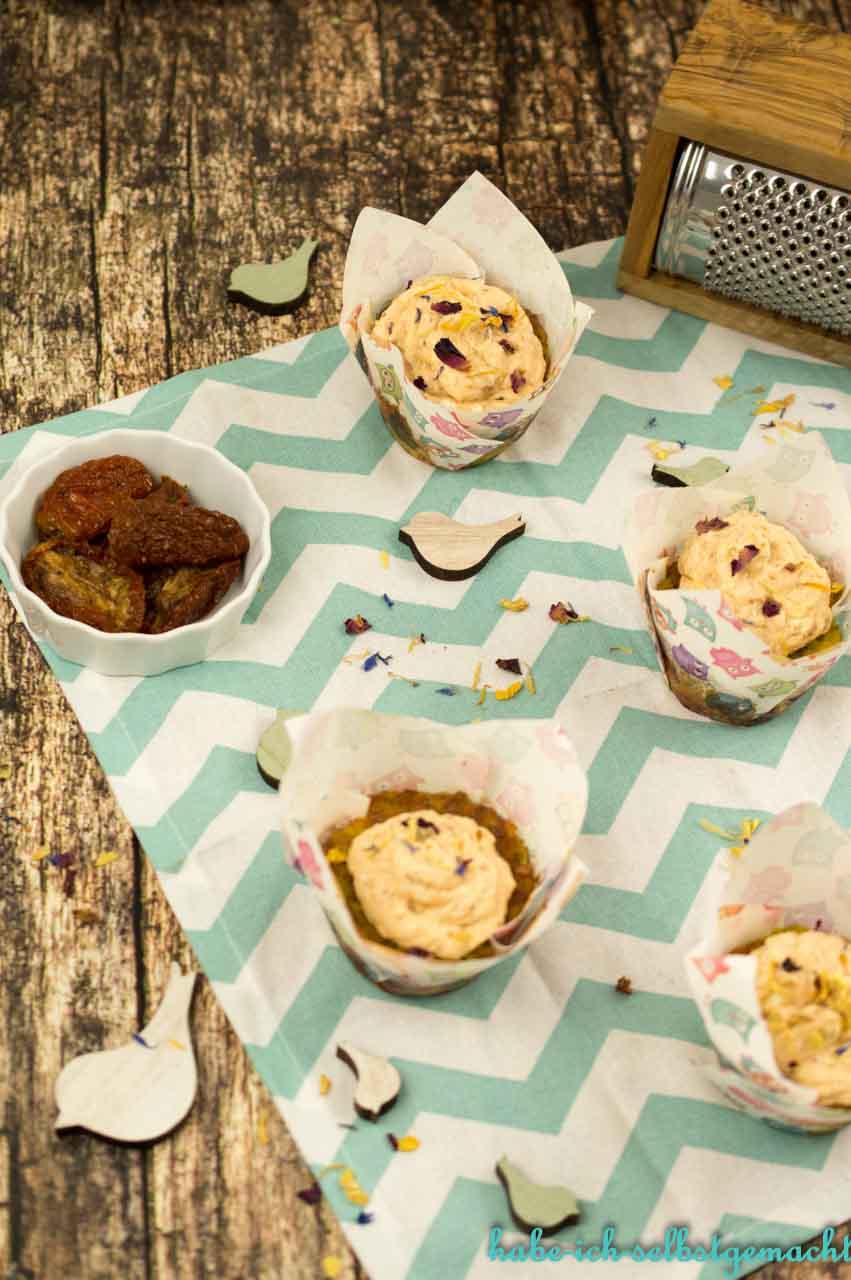 Herzhafte Cupcakes