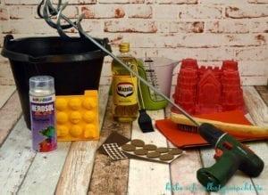 Anleitung DIY Basteln mit Beton - Benötigtes Werkzeug