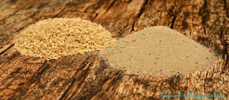 Anleitung DIY Basteln mit Beton - Kies und Sand