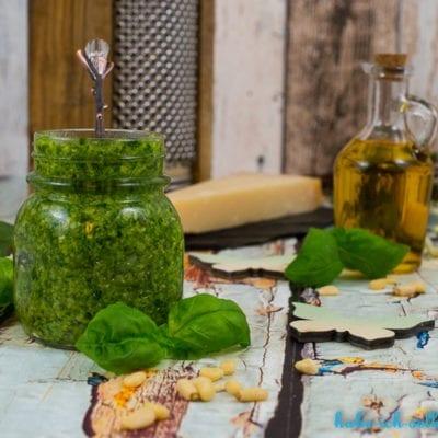 Basilikum Pesto selber machen