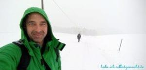 Winterwandern Goldsteig - Orkanböen