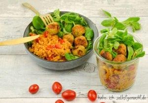 Salat aus Roten Linsen mit Falaffel