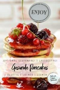 Gesunde Pancakes mit Hafermehl und Buttermilch