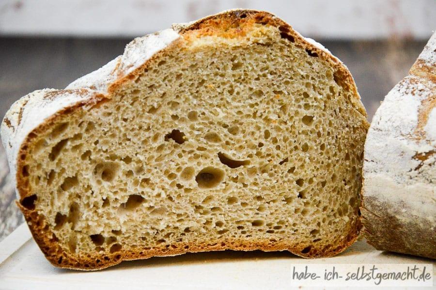 Brot selber backen - Weizenbrot Krume