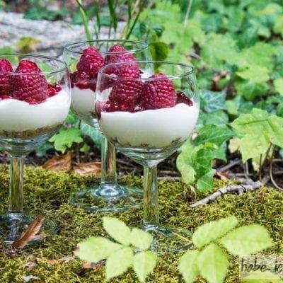 Himbeer Cheesecake im Glas (Schneewittchen Dessert)