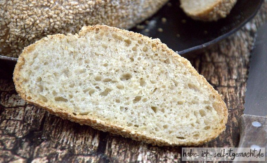 Weizen-Sesam-Brot - Krume
