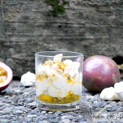 Maracuja Dessert im Glas
