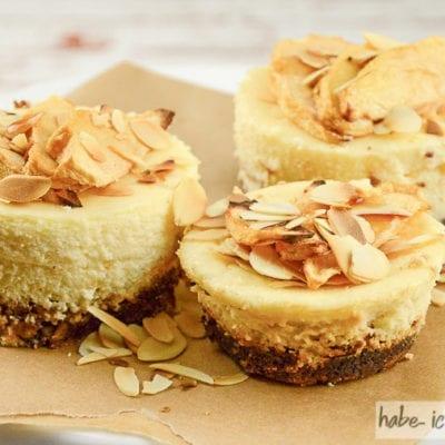 Apfel-Cheesecake Muffins mit Amaretto (low carb)
