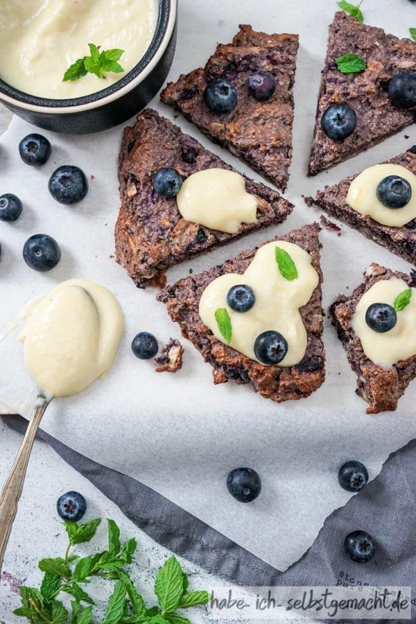 Glutenfreie Scones mit Blaubeeren