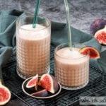 Selbst gemachte Mandelmilch mit Feigen