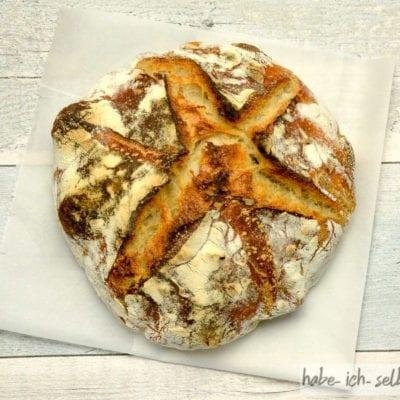 Brot #15 – Französisches Weizenbrot mit Sauerteig und Hefe