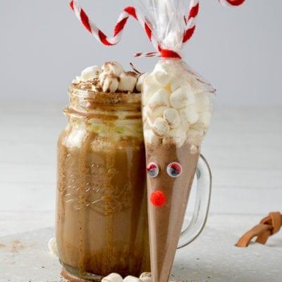 Heiße Rentier Schokolade – Schnelles weihnachtliches Geschenk aus der Küche