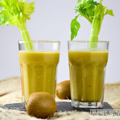 Sättigend und lecker: Avocado Sellerie Kiwi Saft
