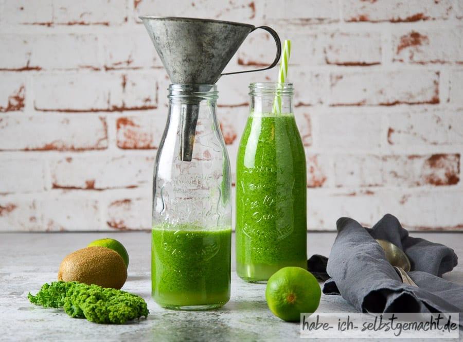 Grünkohl Gurke Kiwi Apfel Saft 7