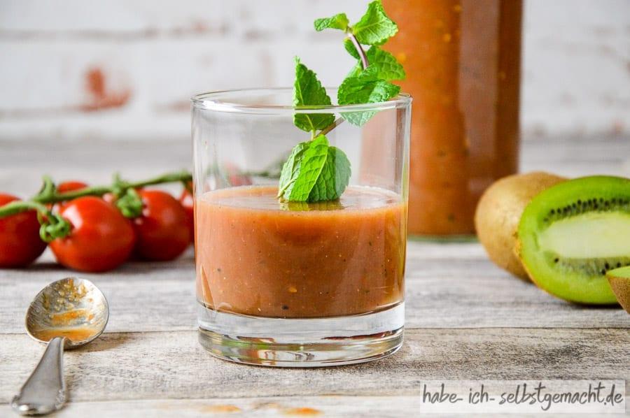 Foodpairing Rezept - Minze-Tomate-Kiwi Saft