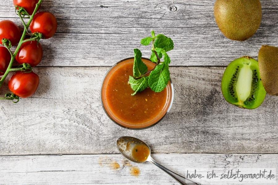 Food Pairing - Tomate Minze und Kiwi
