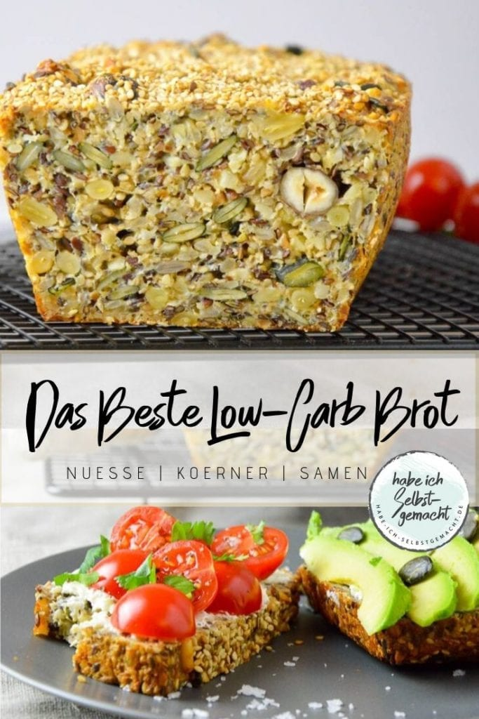 Das beste Low Carb Brot Pinterest Flyer