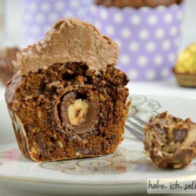 Ferrero Rocher Muffins (auch als Backmischung im Glas)