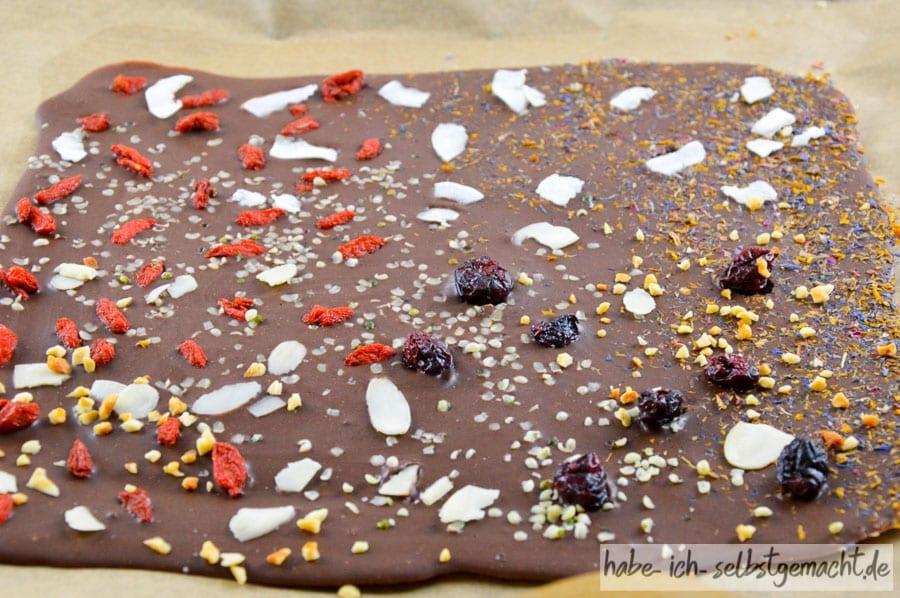 Schokolade vom Blech