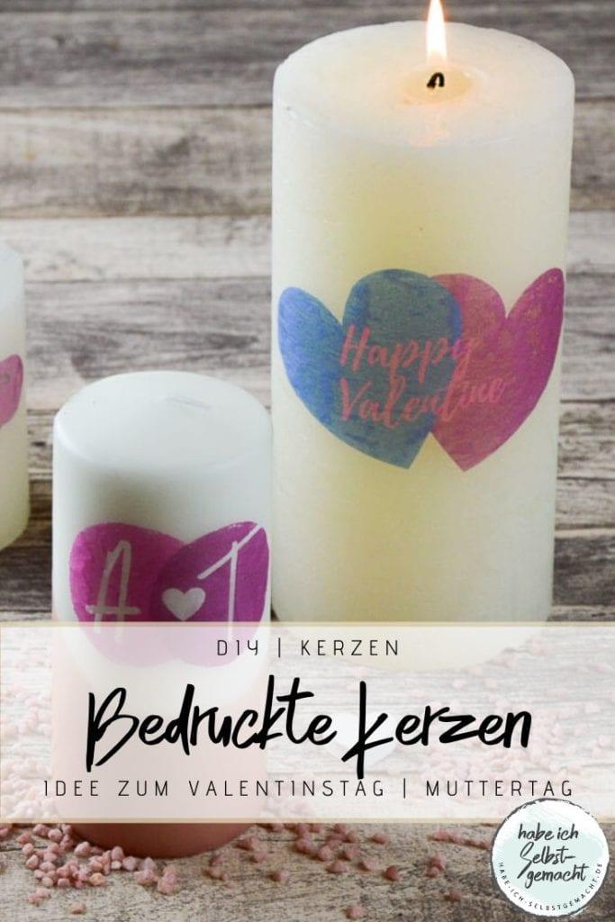 DIY Bedruckte Kerzen