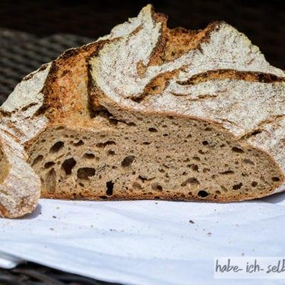 Brot #26 – Dinkel Kümmel Mischbrot mit Sauerteig