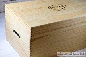 Test Rösle Topf-Set Silence - Holzkiste als Verpackung