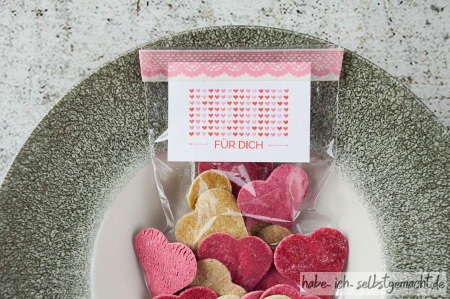Herz-Nudeln zum Valentinstag
