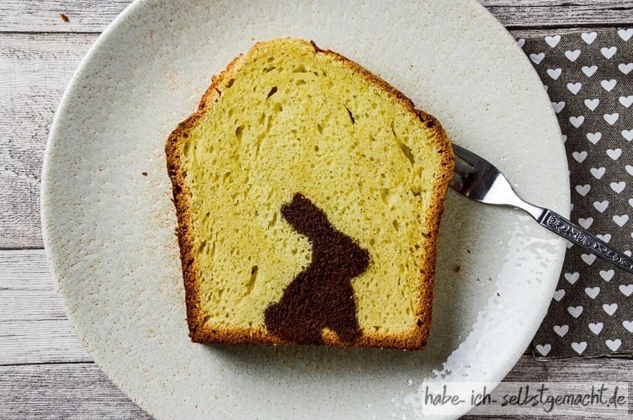 Ostern-Hasen-Marmorkuchen