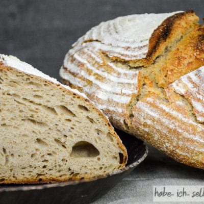 Brot #27 – Weizen Roggen Sauerteig Mischbrot (Weizenmischbrot)