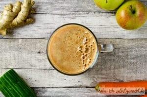 Apfel Gurke Ingwer Karotten Saft