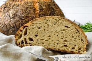 Rosmarin Sauerteig Brot