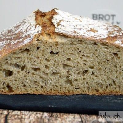 Brot #37 – Weizen Sauerteig Brot mit Röstbrot