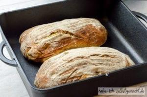 Italienisches Peperoni Ciabatta Brot
