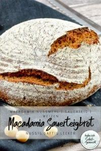 Macadamia Sauerteig Brot Rezept