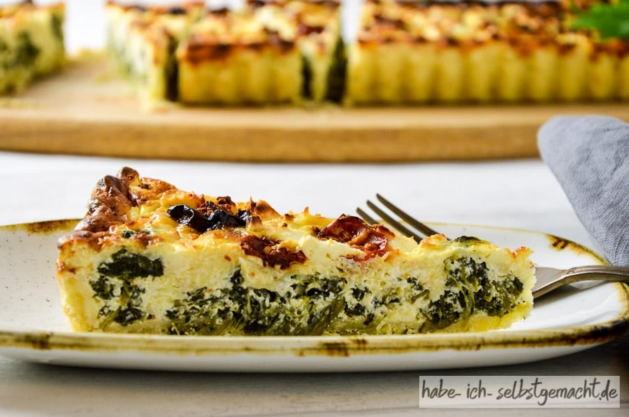 Spinat-Feta Quiche